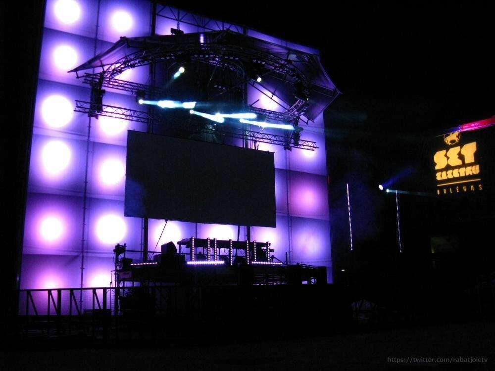 Les dernières répétitions nocturne pour le SET ELECTRO 3
