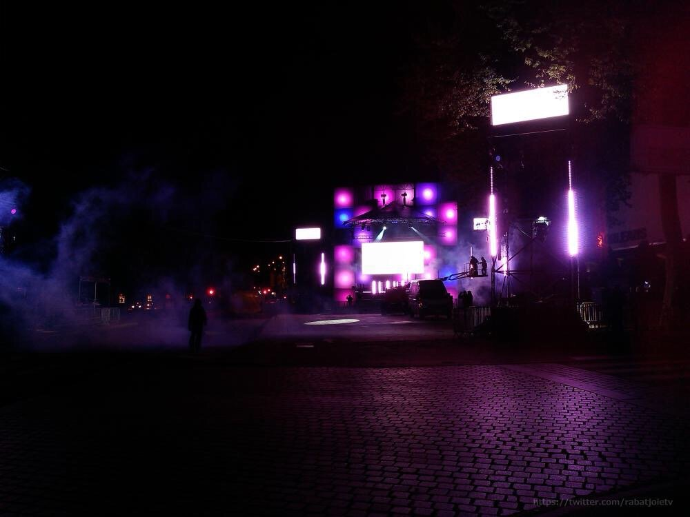 Les dernières répétitions nocturne pour le SET ELECTRO 5