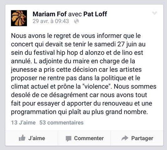 lino alonzo festival hip hop annulation concert