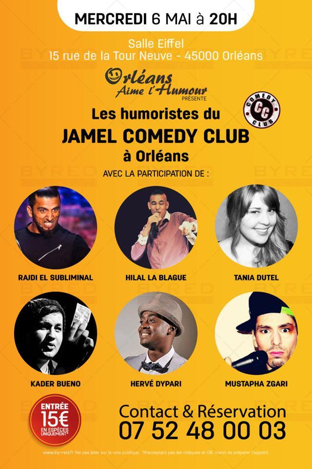 orléans aime l'humour les humoristes du jamel comedy club