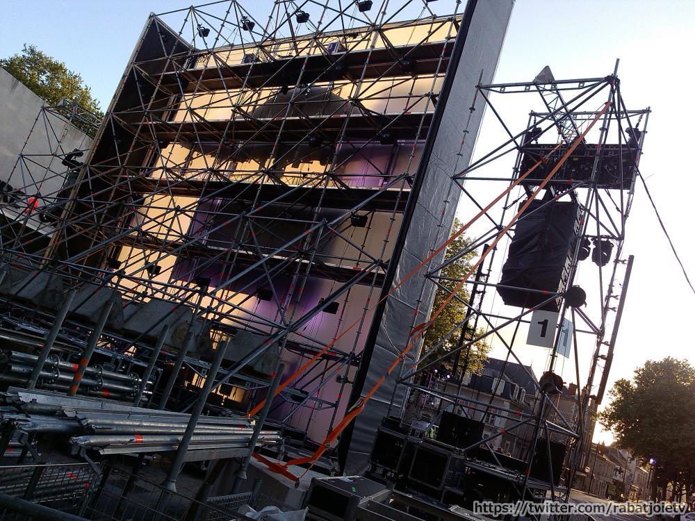 set electro orléans 2015 scene préparation scene installation