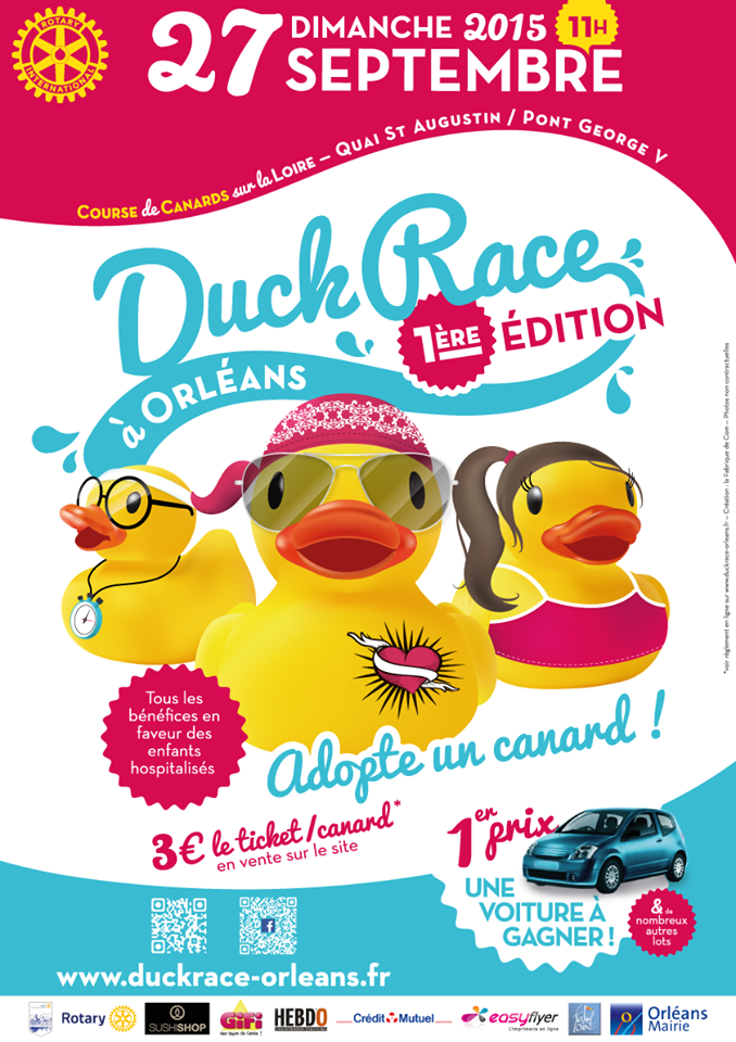Duck Race: la course de canard arrive à Orléans 1