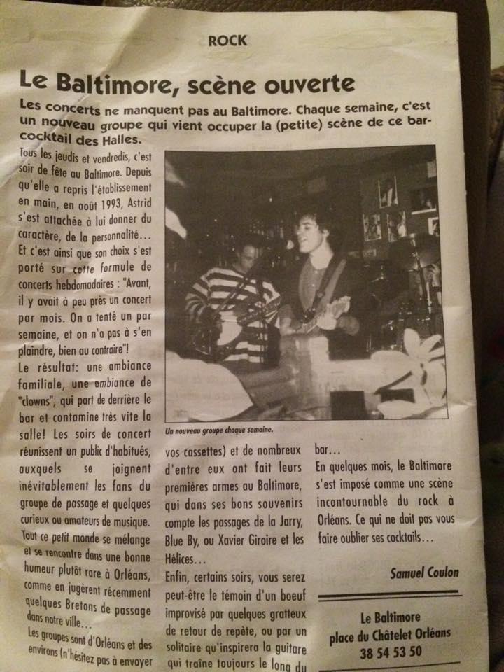 le baltimore place du chatelet orléans article presse