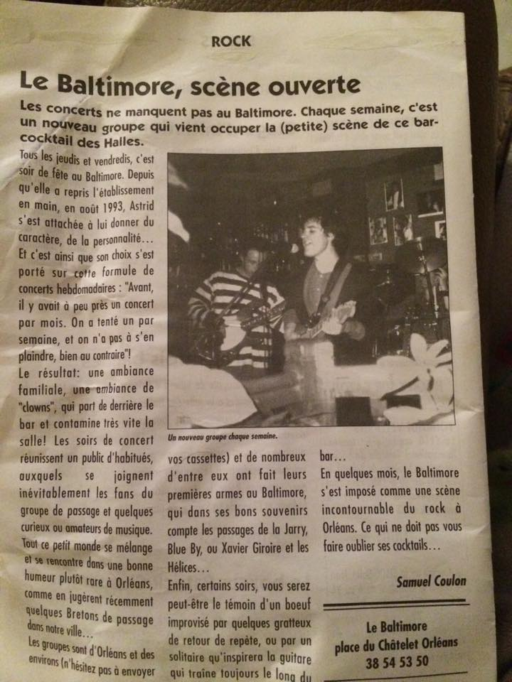 le baltimore place du chatelet orléans article presse