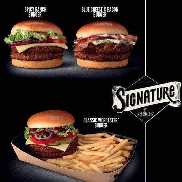 la gamme signature de Mc Donald's