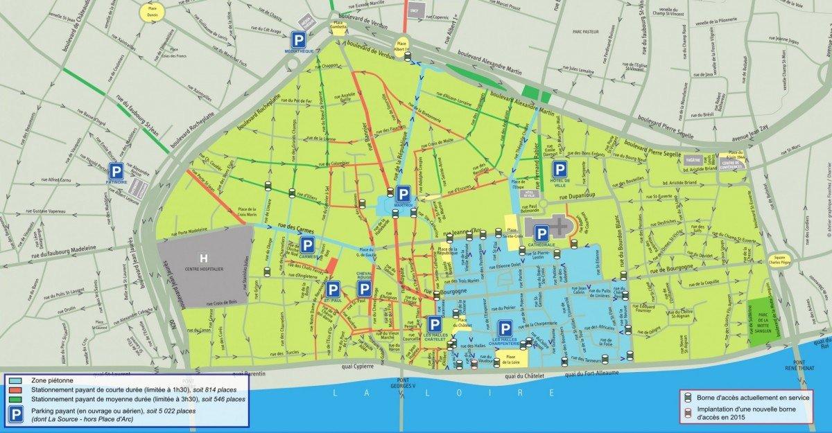Plan Du Centre Ville D Orl Ef Bf Bdans