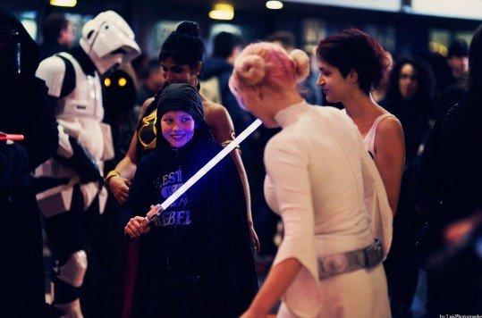 En photo: La Folie de la soirée Star Wars au cinéma Pathé Loire 73