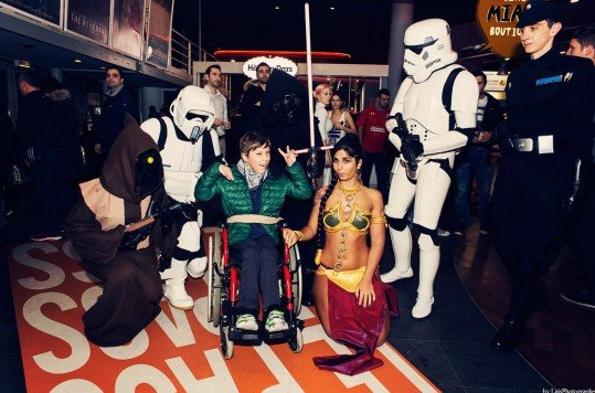 En photo: La Folie de la soirée Star Wars au cinéma Pathé Loire 70