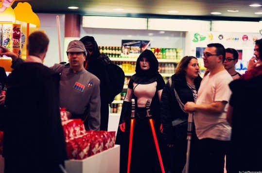 En photo: La Folie de la soirée Star Wars au cinéma Pathé Loire 55
