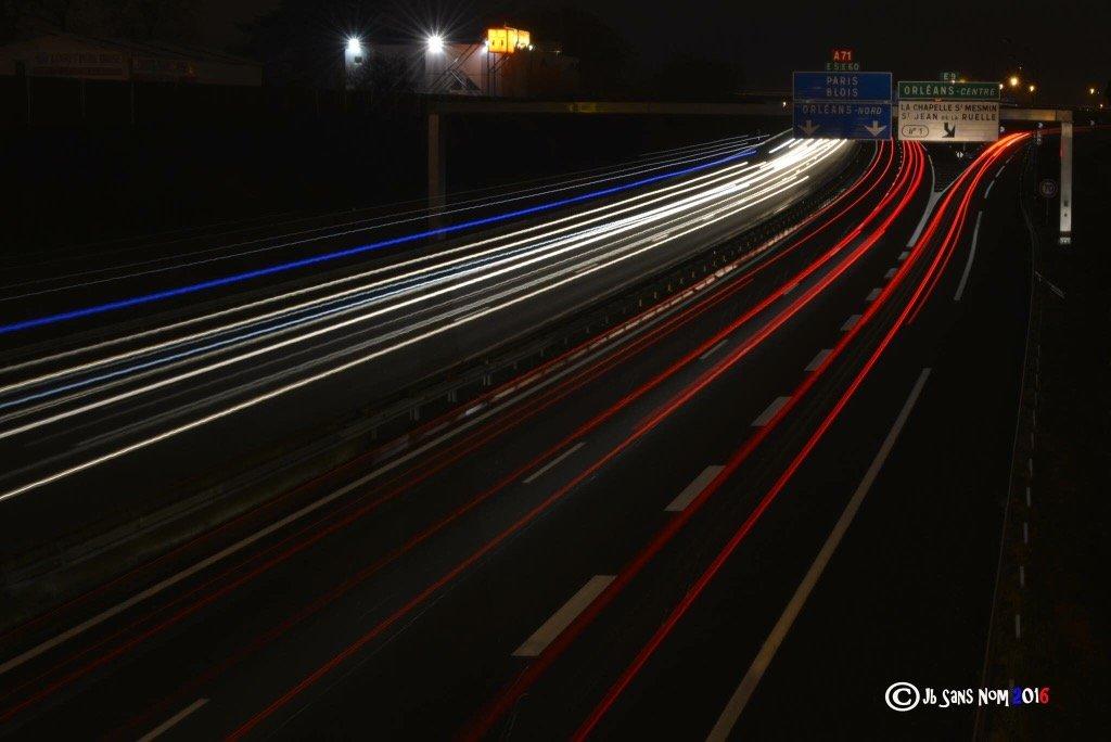 autoroutes orléans de nuit A10 A71