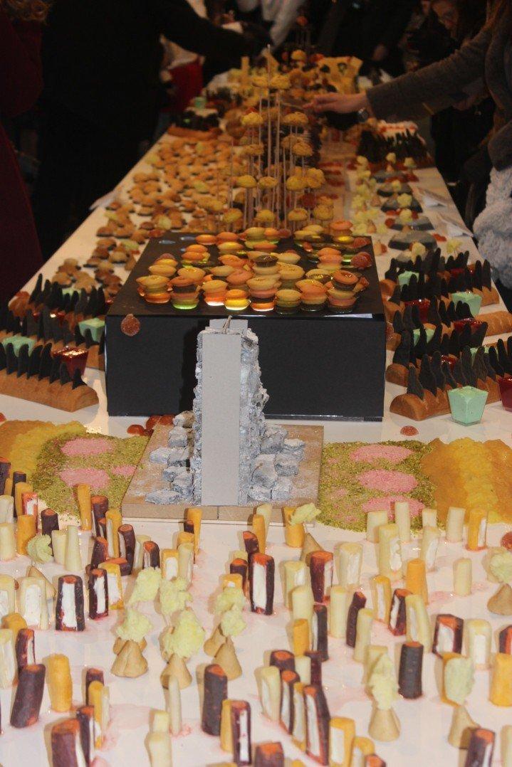 vue d'ensemble du buffet