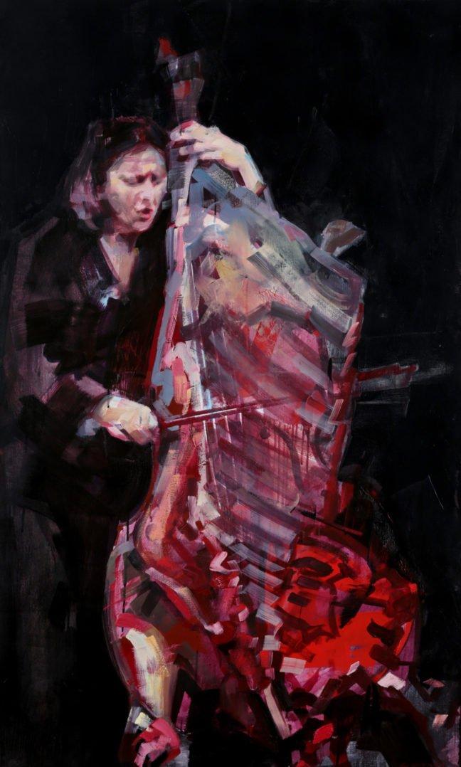 Cédrick Vannier - Joelle Léandre, portrait