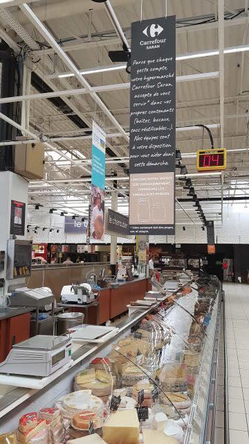 Carrefour innove et vous propose de vous servir dans vos contenants. 7