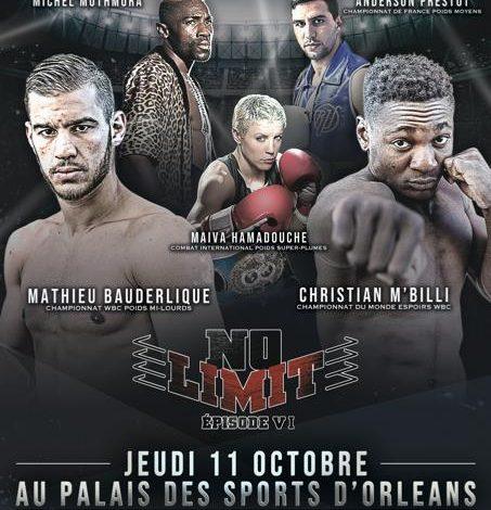 NO LIMIT VI : Un évènement boxe inédit à Orléans 1