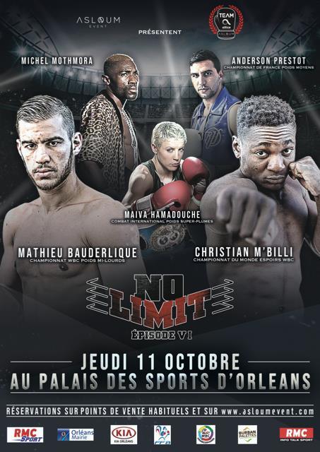NO LIMIT VI : Un évènement boxe inédit à Orléans 2