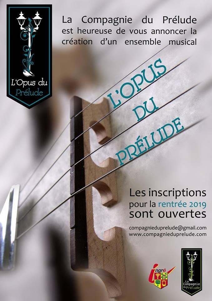 La compagnie du Prélude crée son propre ensemble musical : L'Opus du Prélude ! 8