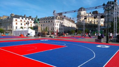 Photo of Du basket, Place du Martroi !