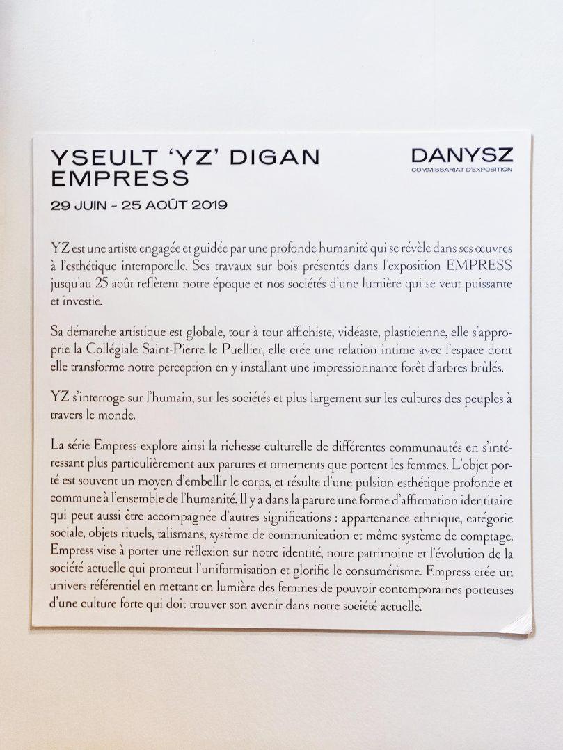 YZ expose Empress à la Collégiale 3