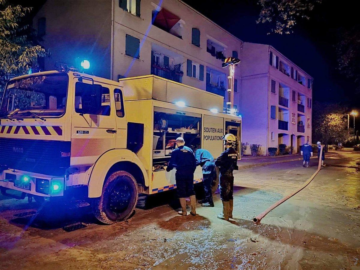 La protection civile du Loiret en soutien aux sinistrés du Var 1