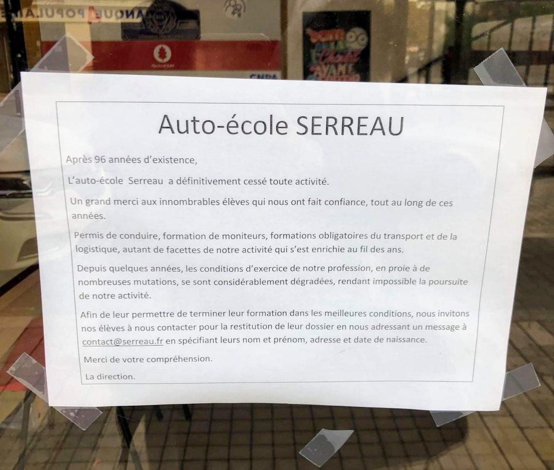 Après 96 ans d'activité, l'emblématique Auto-école Serreau a fermé 2