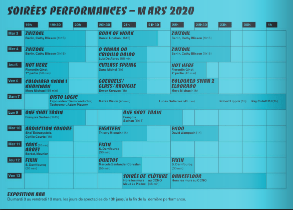 Les Soirées Performances reviennent en mars 1