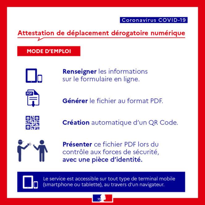 L'attestation de déplacement dérogatoire disponible sur smartphone 2