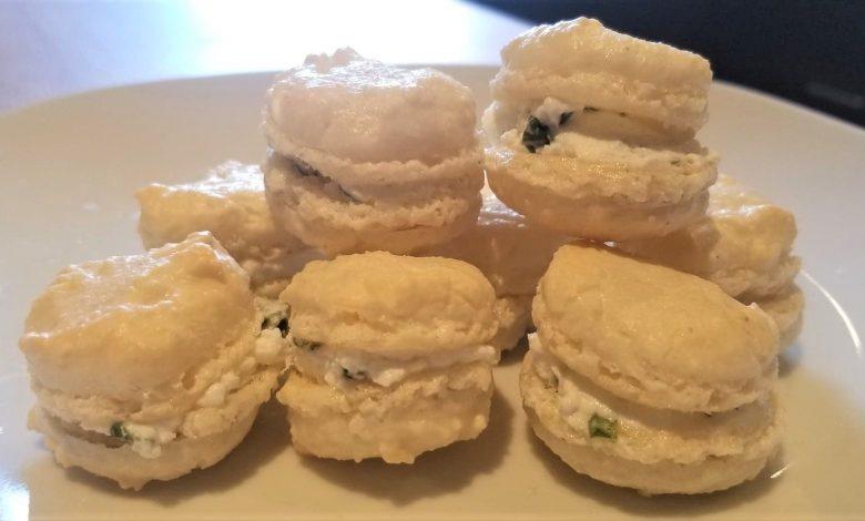 Des petits macarons chèvre-basilic pour l'apéro ! 1