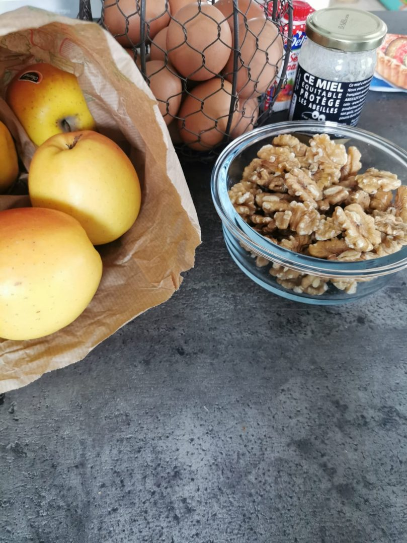 Des noix avec mes pommes 2