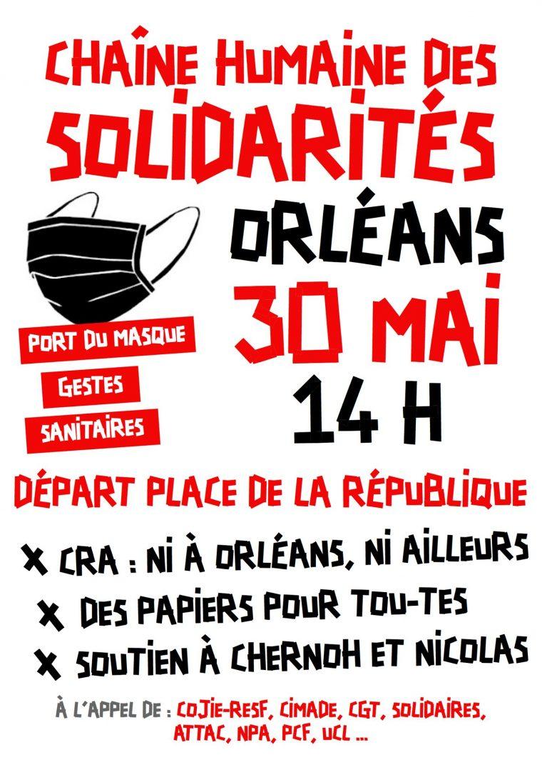 Une chaîne humaine solidaire hier en centre-ville 8