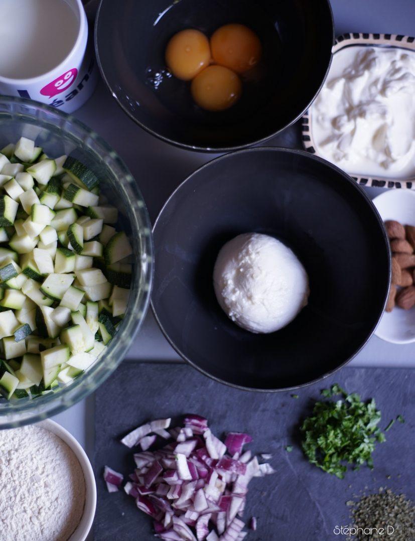 Clafoutis de courgettes mozzarella 3