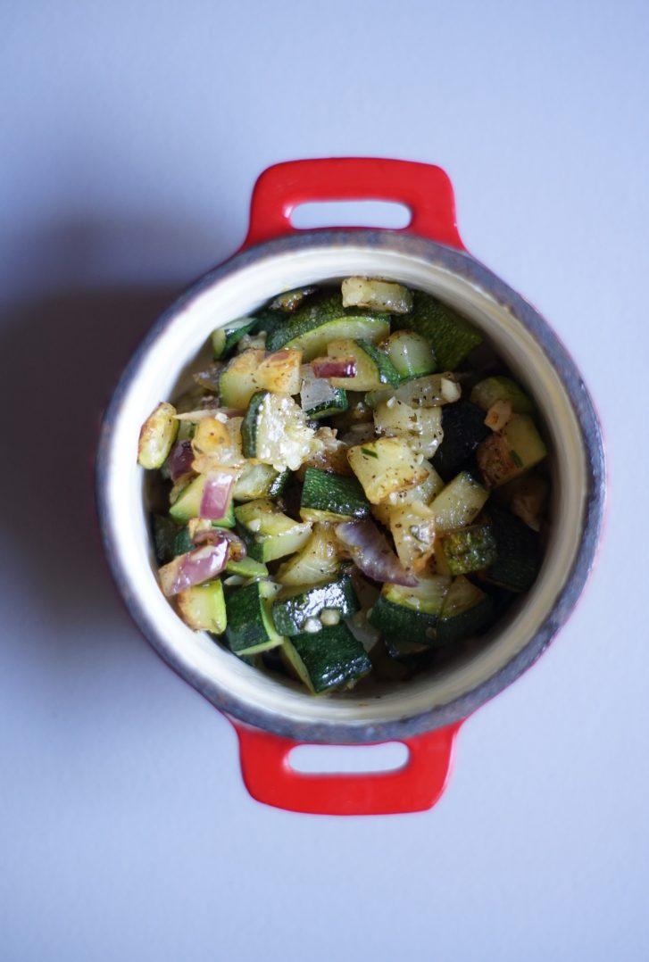 Clafoutis de courgettes mozzarella 5