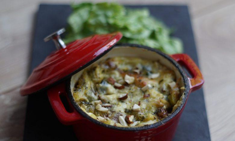 Clafoutis de courgettes mozzarella 1