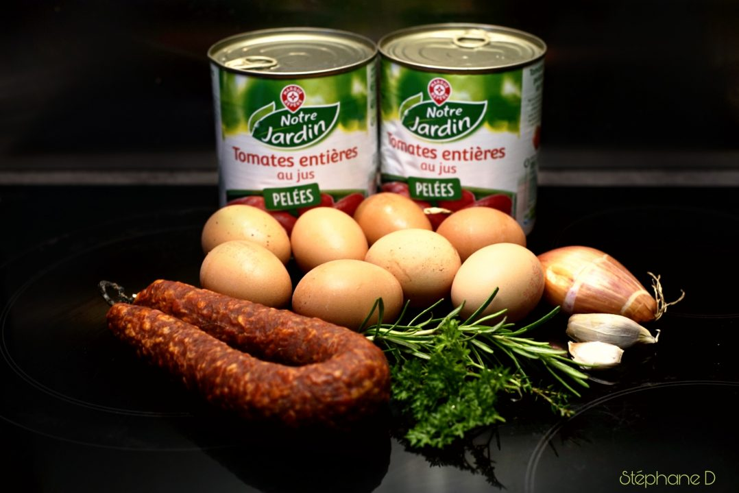 La recette du jour : tomates œufs chorizo 2