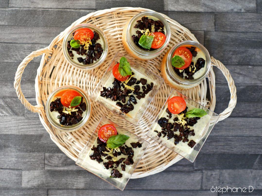 """Une recette colorée et fraiche pour l'été, """"Panna cotta tomates basilic"""" 4"""