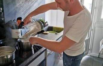 Photo de Alex, un orléanais du 12eme cuir, à «Objectif Top Chef»