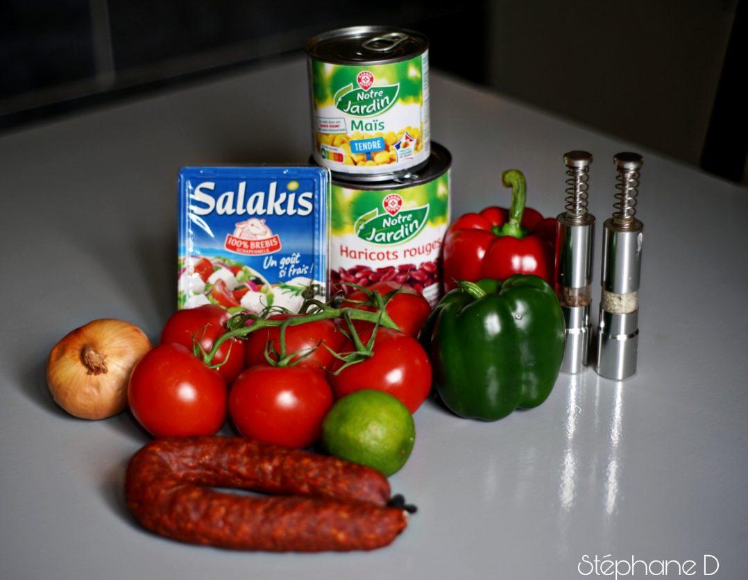 La recette du jour : salade haricots rouges feta 1