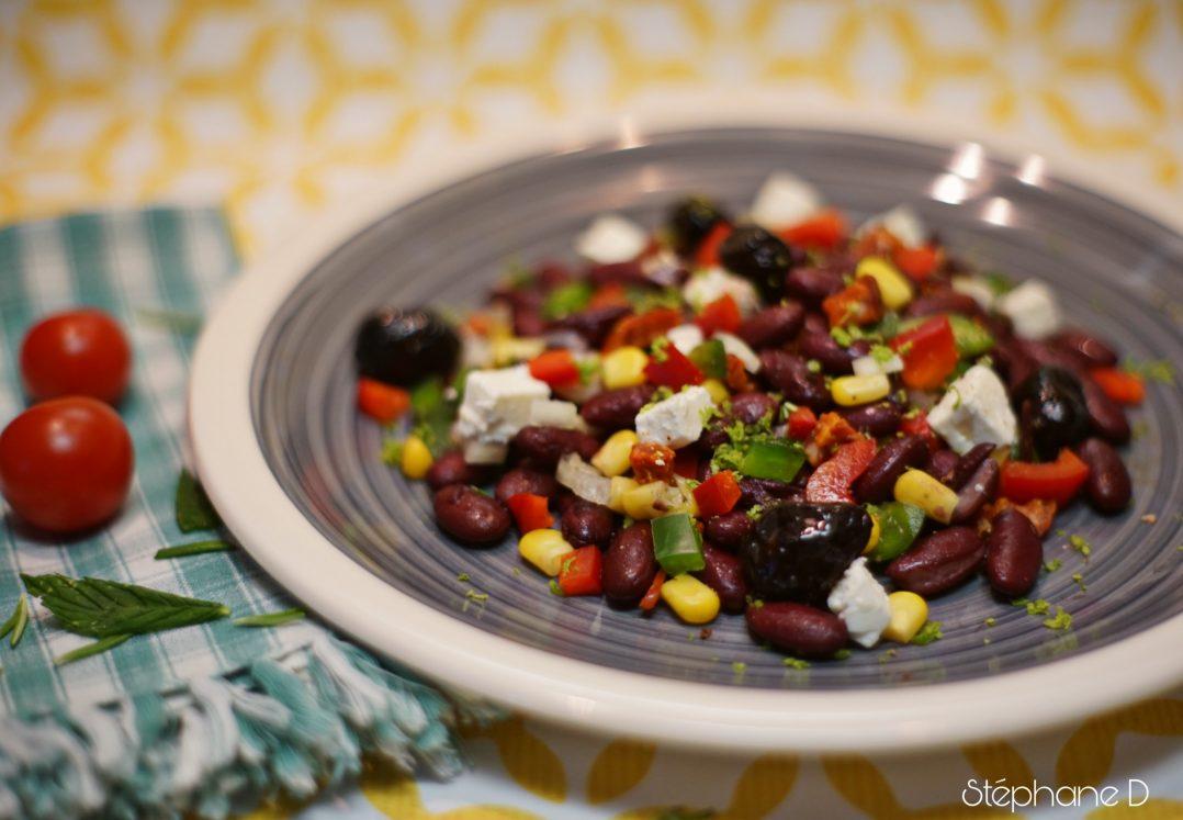 La recette du jour : salade haricots rouges feta 3