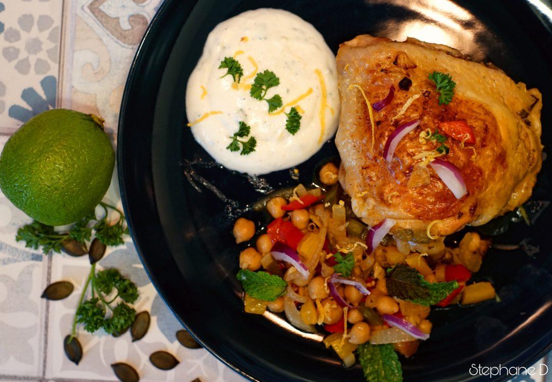 La recette du jour : poulet épicé, pois chiche 8
