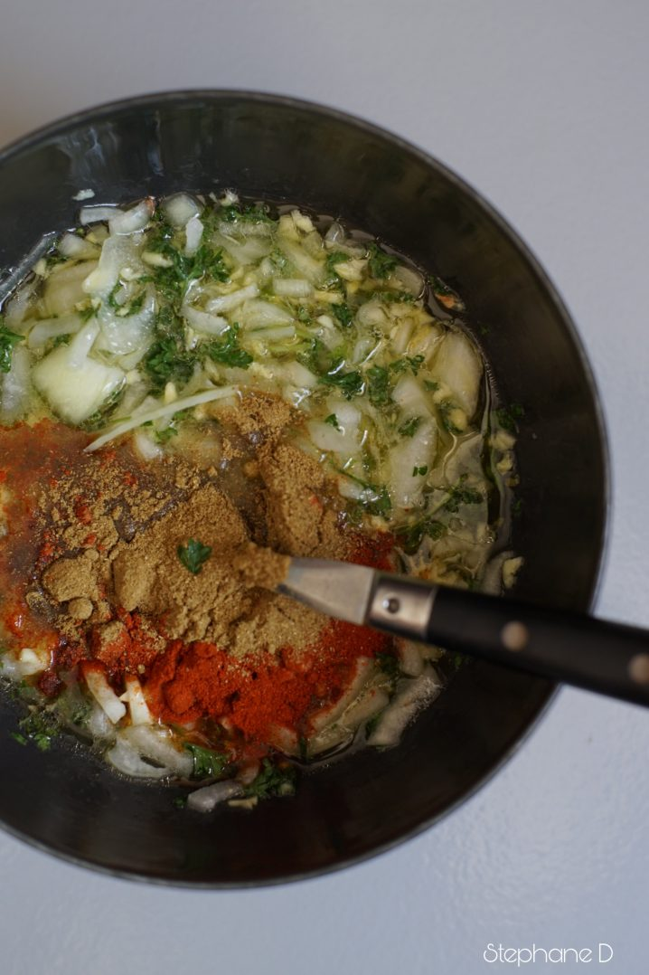 La recette du jour : poulet épicé, pois chiche 4