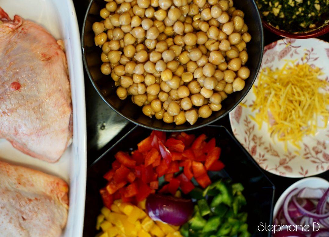 La recette du jour : poulet épicé, pois chiche 2