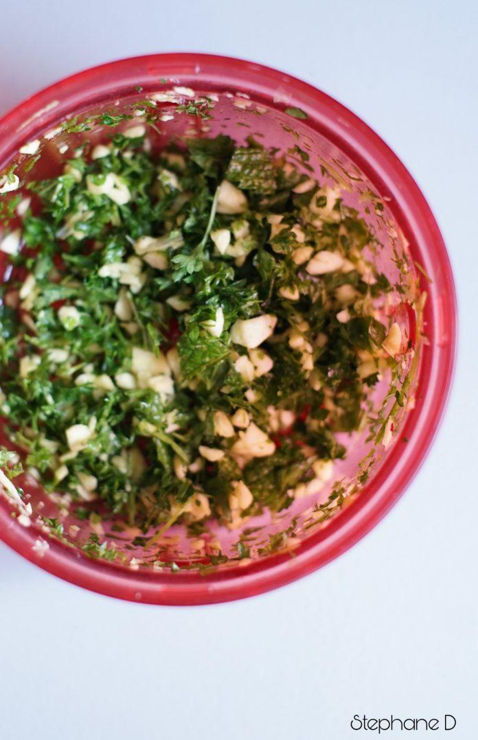 La recette du jour : poulet épicé, pois chiche 3