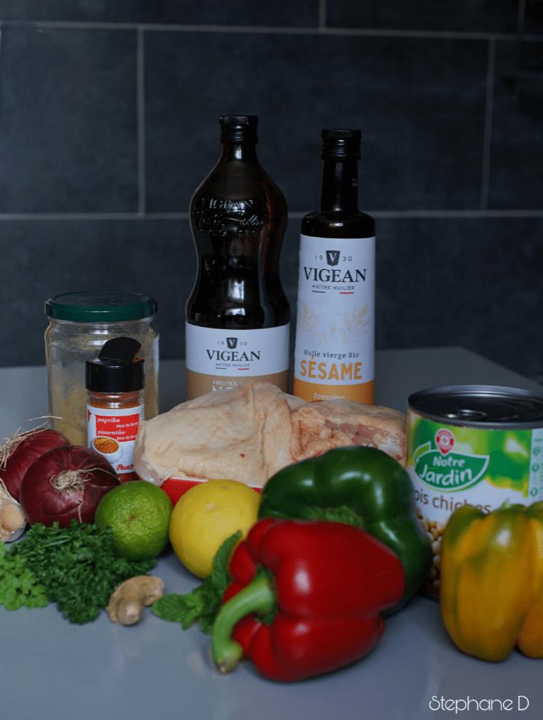 La recette du jour : poulet épicé, pois chiche 1