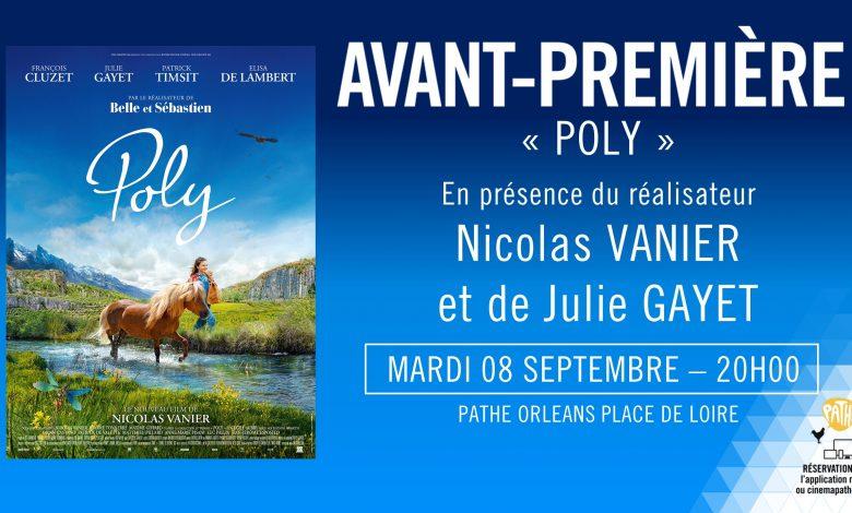 Nicolas Vanier et Julie Gayet à Orléans pour présenter Poly 1