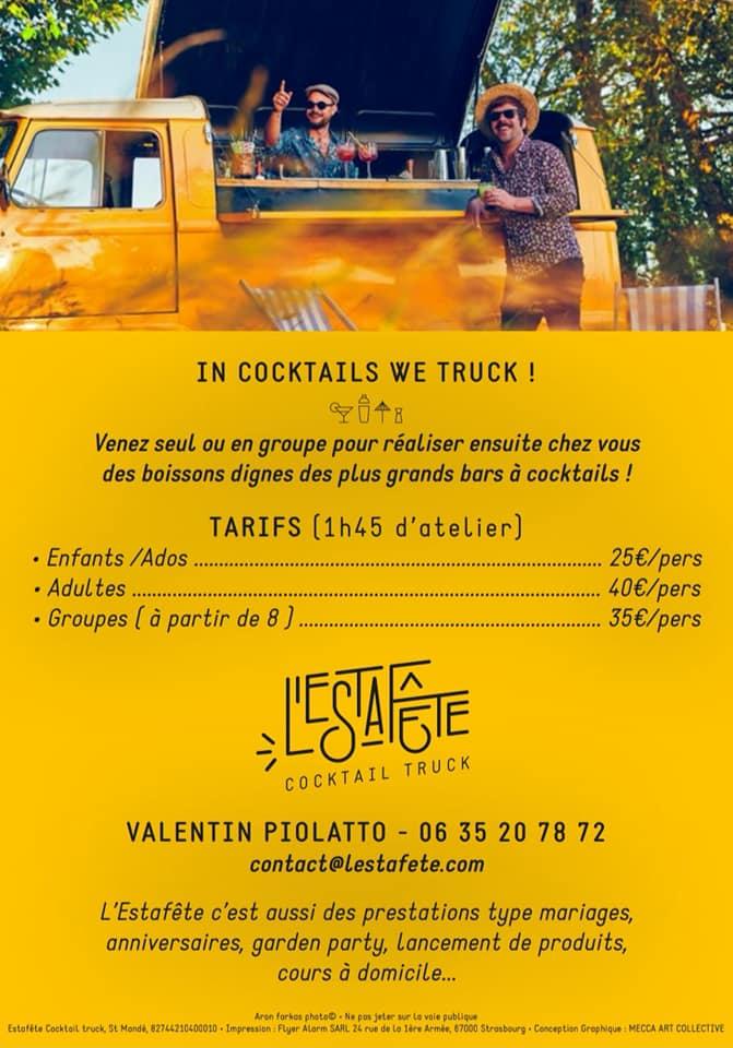 L'Estafête, cocktail truck anime vos soirées et vous forme à l'art du cocktail ! 3