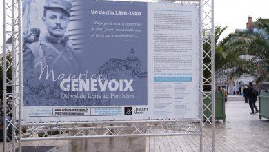 Photo de Orléans célèbre Maurice Genevoix avant son entrée au Panthéon.