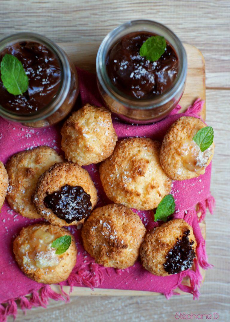 Pour le goûter ou en dessert :  Rochers à la noix de coco et crème au chocolat 8