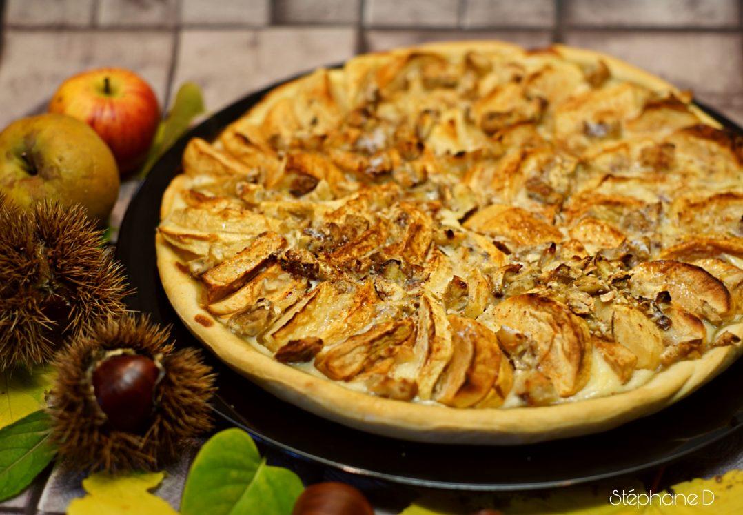 Tarte pommes châtaignes 7