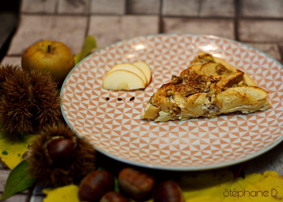 Tarte pommes châtaignes 8