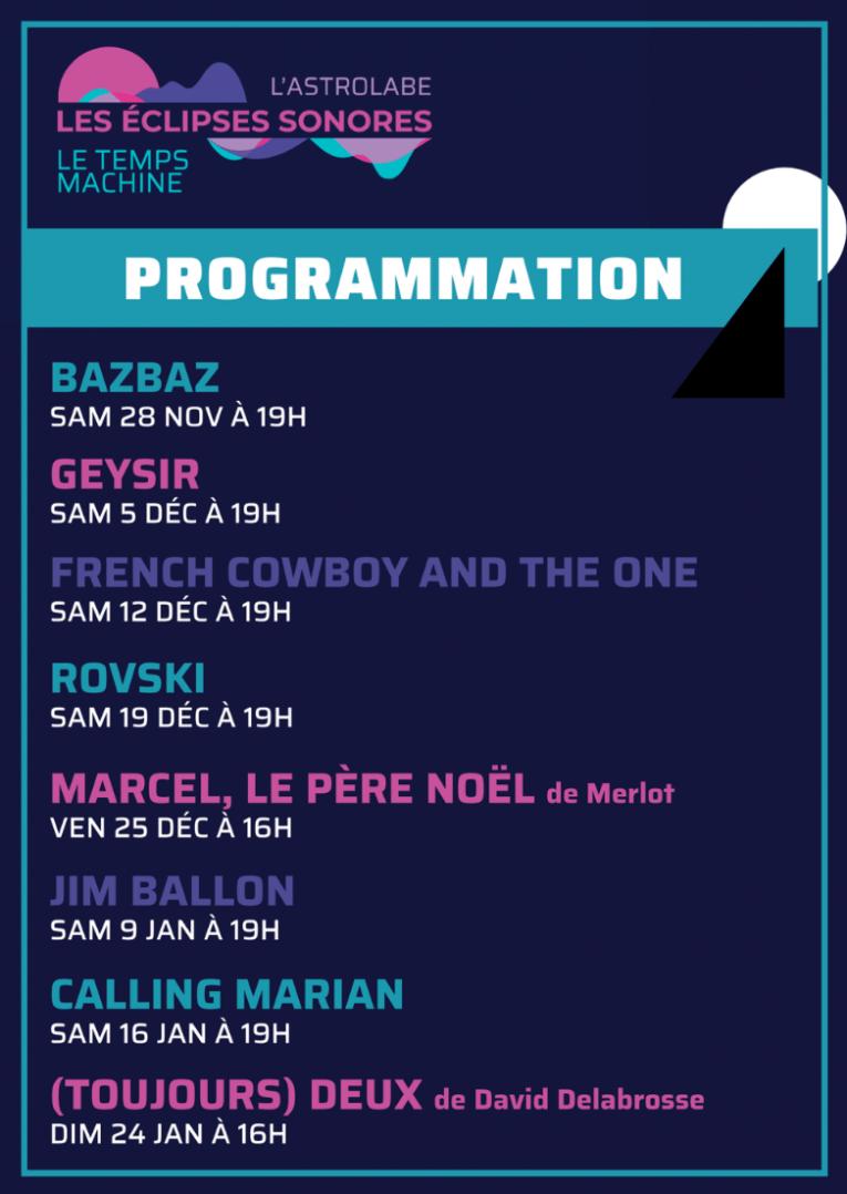 Geysir ce soir en live sur le facebook de l'Astrolabe 2