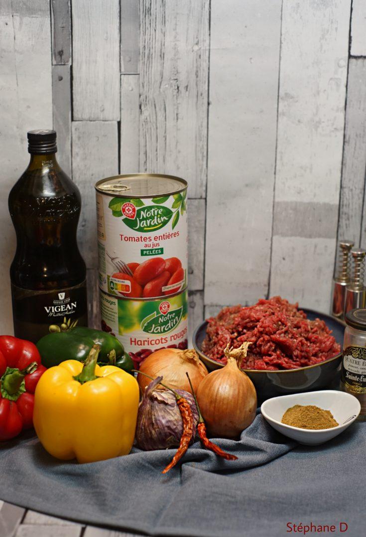 Recette Chili con carne 1